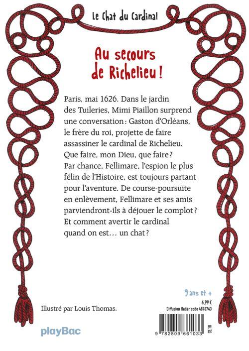 Le Chat du Cardinal Au secours de Richelieu 4e de couverture